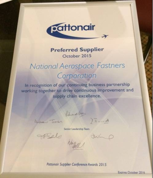 Pattonair continuous improvement & supply chain excellence 2015